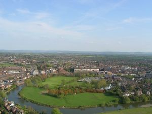 Shrewsbury from the air