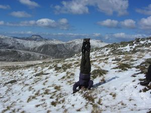 Headstand up a mountain