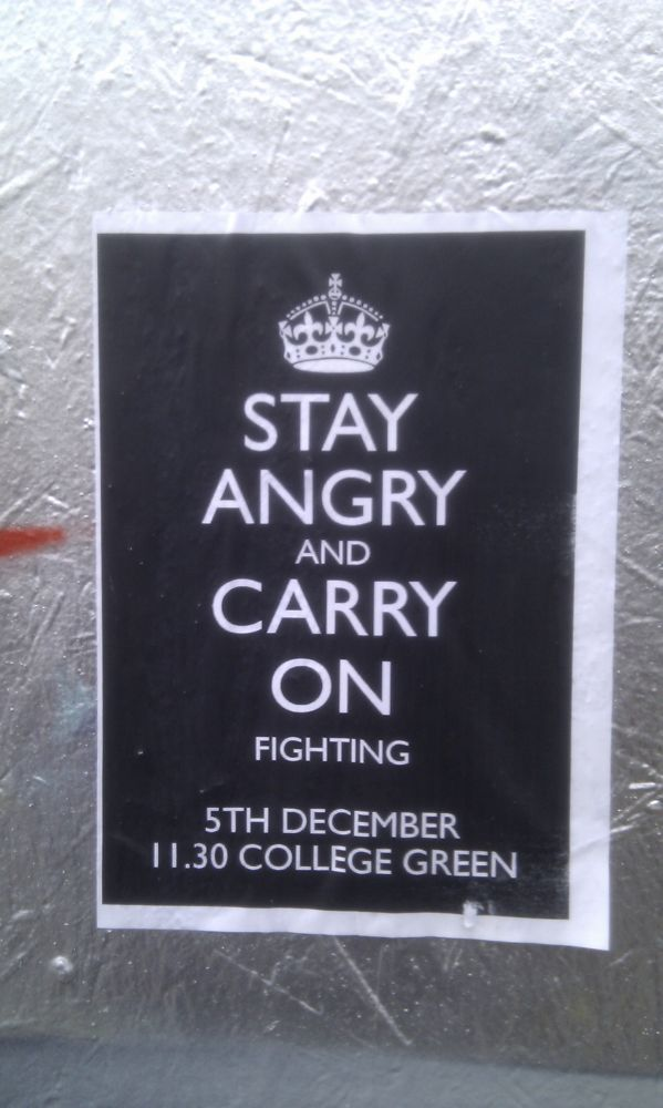 stay angry poster