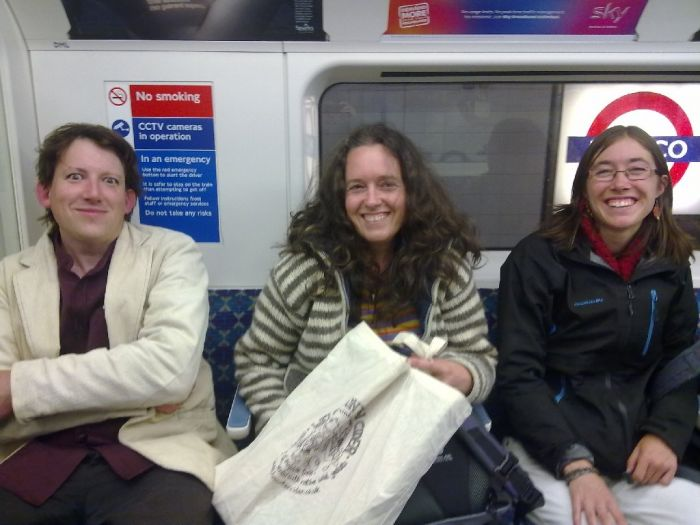 On the tube with Josiah, Ann and Kerry