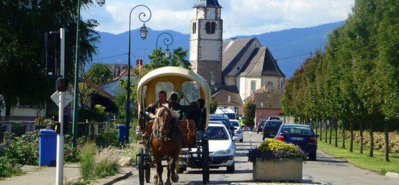 Ungersheim, Village in Transition, France.