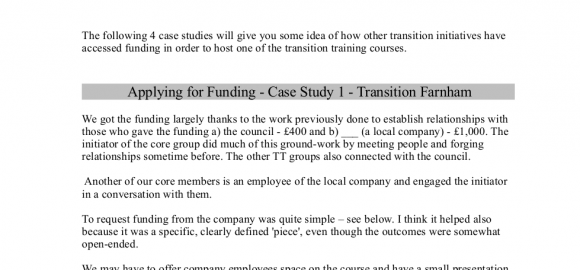 Applying for funding to host a Transition training