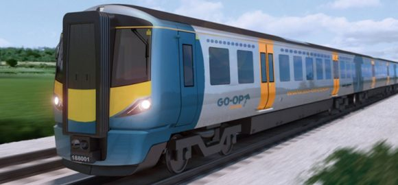 The train now standing at Platform 3 is … a Co-op?